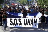 A student protest at The National Autonomous University of Honduras.