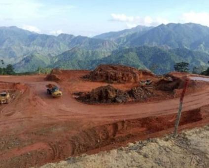 Evidencias de contaminación de la minera Inversiones Los Pinares-ECOTEK entregan  a MiAmbiente