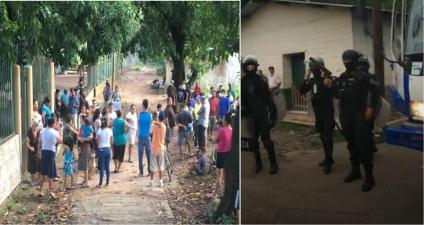 Atacada Reitoca con decenas de policías