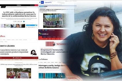 Causa Berta Cáceres: El silencio de corporaciones mediáticas vinculados a los círculos de poder